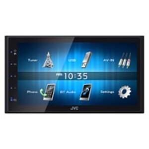 """JVC KW-M24BT Autoradio/Mediacenter mit 17,3 cm (6,8"""") Hochglanz-Touch Panel, Bluetooth und geringer Einbautiefe, 2-DIN"""