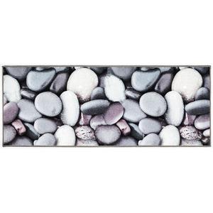 """Bella Casa Teppichläufer mit fotorealistischem Digitaldruck """"Graue Steine"""", ca. 67 x 170 cm"""
