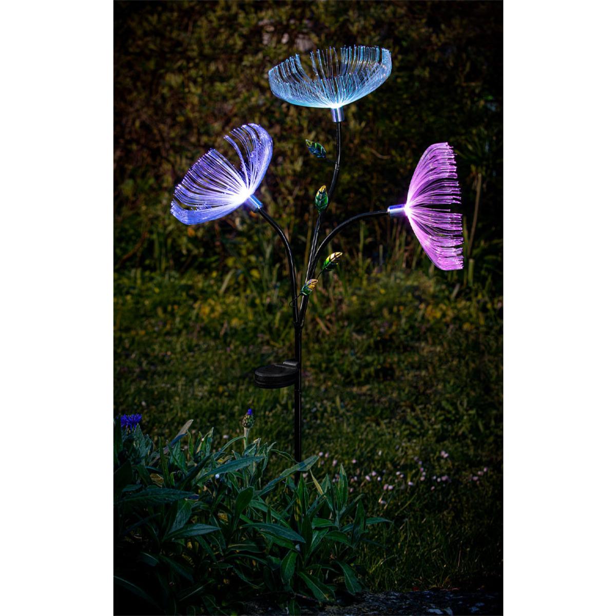 """Bild 2 von EZSolar LED Solar Blume """"Dandelion"""" mit 3 Blüten"""