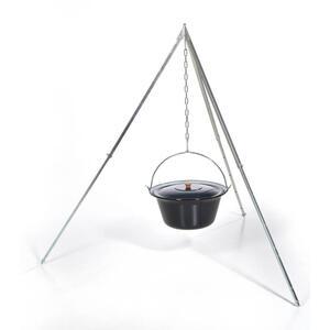 acerto® Gulaschkessel 10 Liter + Dreibeingestell 170cm