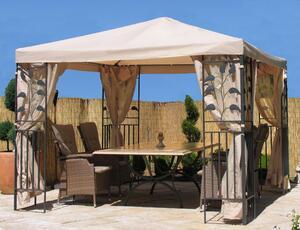 Grasekamp Blätter-Pavillon 3x3m - Sand