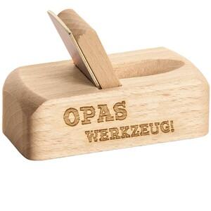 """Spruchreif Flaschenöffner Hobel """"Opas Werkzeug"""""""