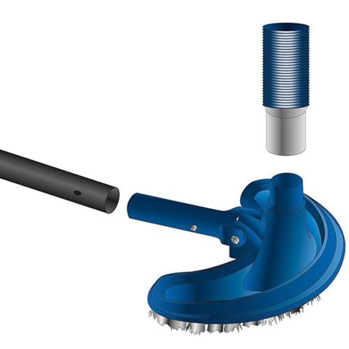 Bild 2 von Mauk Reinigungs- Saug- Aufsatz Bodendüse Ø 38mm + Mauk Pool Hand Schrubber Bürste mit Handriff