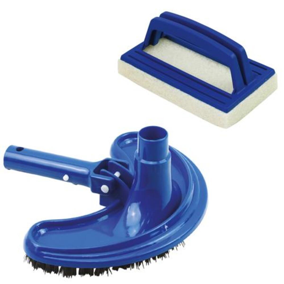 Bild 4 von Mauk Reinigungs- Saug- Aufsatz Bodendüse Ø 38mm + Mauk Pool Hand Schrubber Bürste mit Handriff