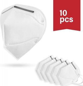 FFP2 KN-95-Atemmaske mit verstellbarem Nasenclip 10er Packung Maske