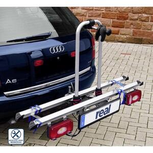 Kupplungs-Fahrradträger Alu-Atlas einfache Montage durch Kupplungsadapter,Beleuchtung mit 13-poligem Stecker, Setpreis