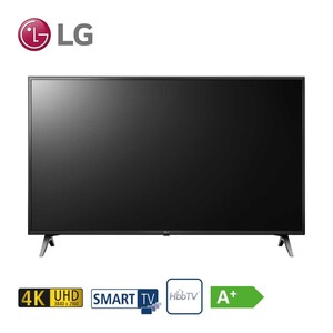 55UM7050PLC • TV-Aufnahme über USB • 3 x HDMI, 2 x USB, CI+ • integr. Kabel-, Sat- und DVB-T2-Receiver • Maße: H 72,9 x B 124,7 x T 8,9 cm • Energie-Effizienz A+ (Spektrum A+++ bis D) •