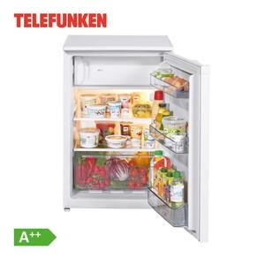 Kühlschrank mit Gefrierfach TFKS031 A++ · 106 Liter Nutzinhalt Kühlteil  davon 17 Liter Gefrierteil · Maße: H 83,8 x B 54,0 x T 59,5 cm · Energie-Effizienz A++  (Spektrum A+++ bis D)