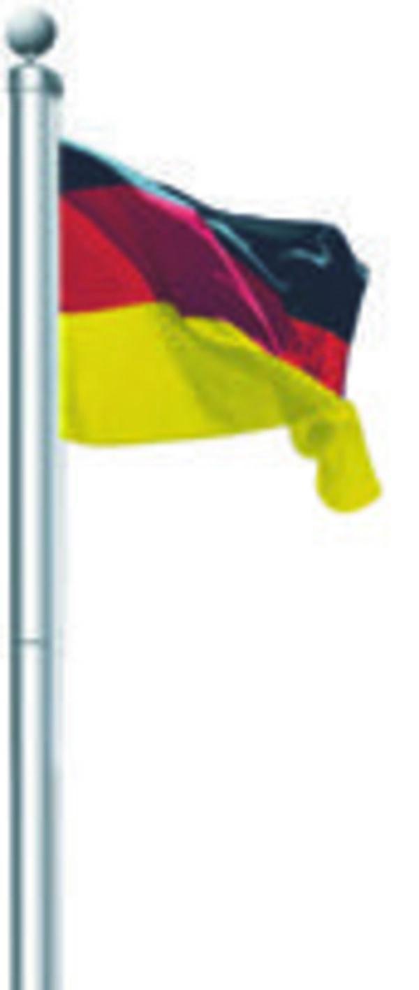 Aluminium-Fahnenmast  inkl.  Deutschland- Fahne