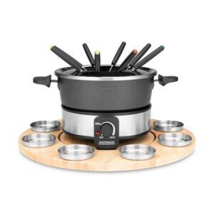Gastroback 42566 Fondue Set Drehteller mit 8 Saucenbehältern