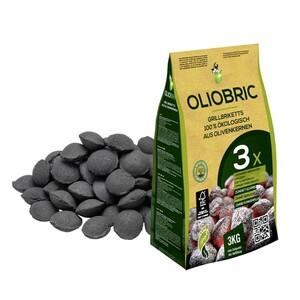 Grillbriketts 3 kg, aus Olivenkernen, anhaltende und gleichmäßige Hitzeentwicklung