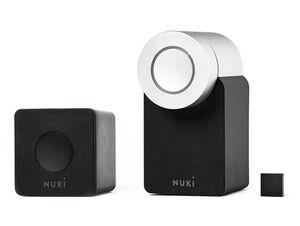 Nuki Combo 2.0, elektronisches Türschloss inkl. Nuki Bridge, schwarz/silber