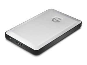 G-Technology G-DRIVE mobile, 1 TB mobile Festplatte, USB-C/ USB-3.0, silber