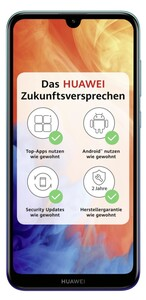 Huawei Y7 (2019) Dual-SIM aurora blue Smartphone (6,26 Zoll, 32 GB, Dual-SIM, 4.000-mAh, Octa-Core, Dual-Kamera, Fingerabdrucksensor, blau)