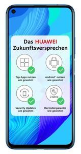 Huawei Nova 5T crush blue Smartphone (6,26 Zoll, 128 GB, 3750-mAh, 48 MP, Quad-Kamera, Octa-Core, blau)
