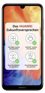 Huawei Y7 (2019) Dual-SIM midnight black Smartphone (6,26 Zoll, 32 GB, 4.000-mAh, Octa-Core, Dual-Kamera, Fingerabdrucksensor, schwarz)