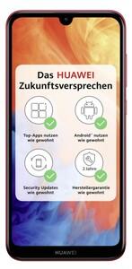 Huawei Y7 (2019) Dual-SIM coral red Smartphone (6,26 Zoll, 32 GB, 4.000-mAh, Octa-Core, Dual-Kamera, Fingerabdrucksensor, rot)