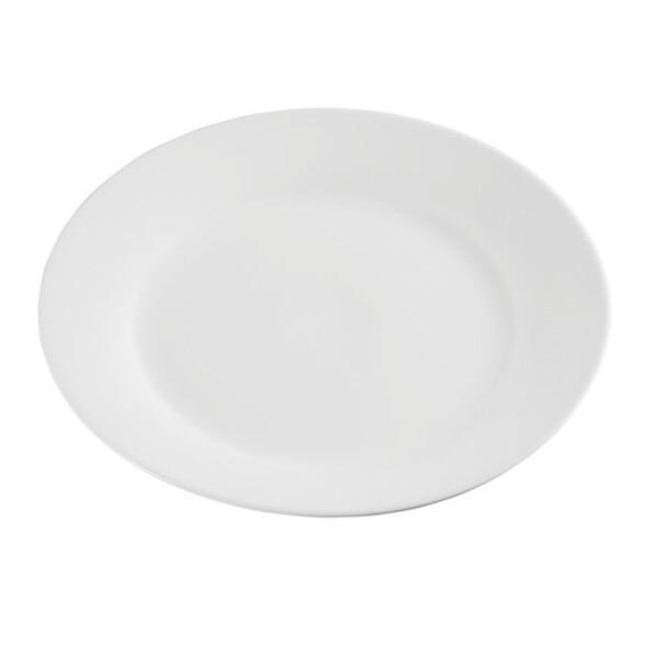 ProVida flacher Porzellanteller in Weiß 24 cm
