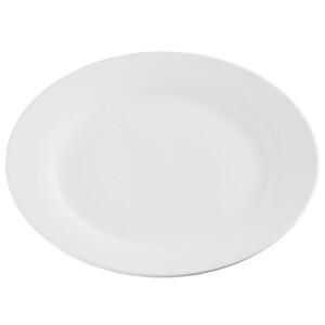 ProVida flacher Porzellanteller in Weiß 27 cm