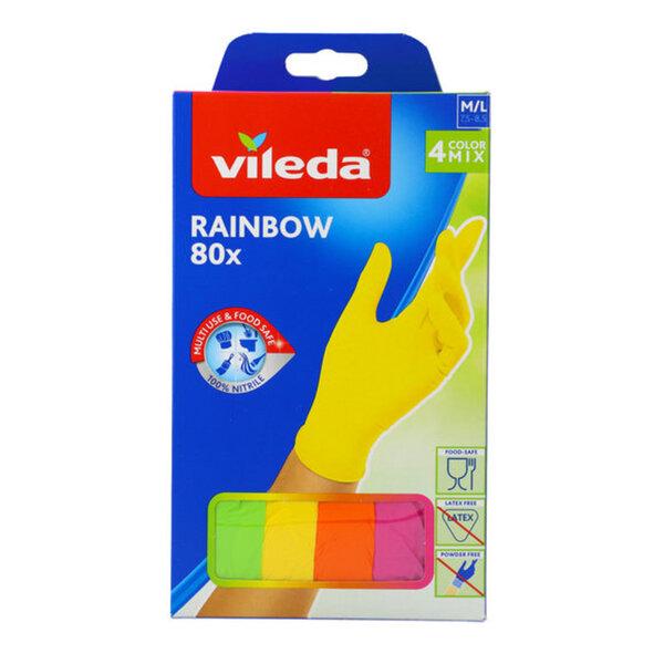 Vileda Rainbow Einweghandschuhe 80 Stück