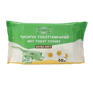 "Wetties Feuchtes Toilettenpapier ""Kamille & Aloe Vera"" 60 Stück"
