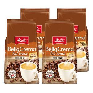 Melitta Bella Crema La Crema ganze Bohne 1000 g, 4er Pack