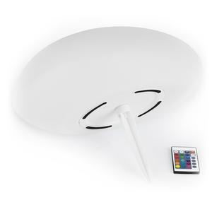 EASYmaxx Solar-Leuchte Stein - Mit Farbwechsel - weiß