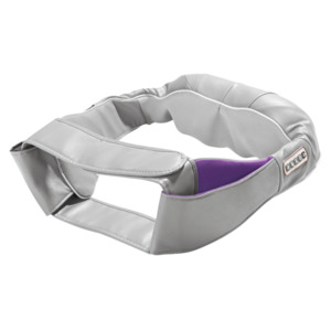 Vitalmaxx Shiatsu-Massagegerät für Nacken mit Gürtel grau/lila
