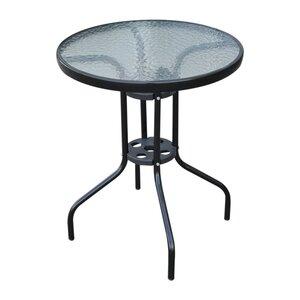 Outsunny Glastisch mit Wasserkräuselung-Muster schwarz