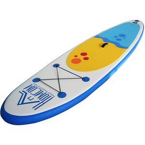 Homcom Aufblasbares Surfbrett mit Paddel weiß/blau