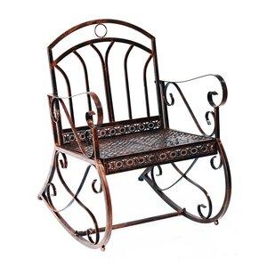 Outsunny Schaukelstuhl im stilvollen Design bronze-rot