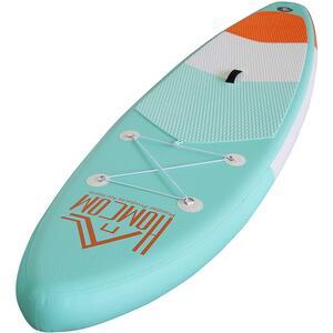 Homcom Aufblasbares Surfbrett mit Paddel grün/orange/weiß