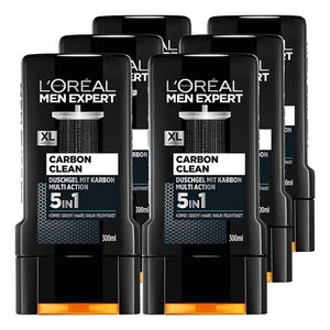 Loreal Men Expert Duschgel Carbon Clean 300 ml, 6er Pack