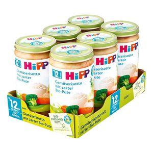 HiPP Bio Menü Gemüserisotto mit zarter Pute 250 g, 6er Pack