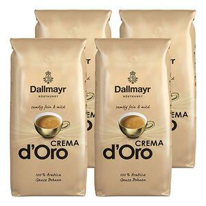 Dallmayr Crema dOro ganze Kaffeebohnen 1 kg, 4er Pack