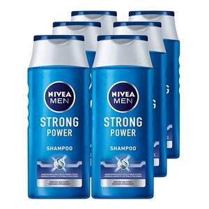 NIVEA Pflegeshampoo Strong Power 250 ml, 6er Pack