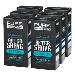 Pure & Basic Aftershave Classic 100 ml, 6er Pack