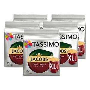 Jacobs Tassimo Caffe Crema XL 132,8 g, 5er Pack