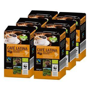 Bio Fairtrade Cafe Latina 500 g, 6er Pack