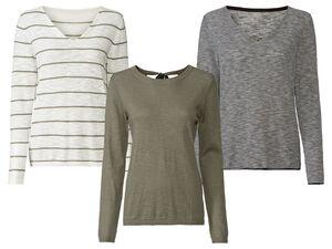 ESMARA® Pullover Damen, luftige Qualität in Leinenoptik, aus reiner Baumwolle