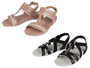 Sandale Damen, mit Textil Fußbett, leichte Laufsohle