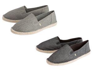 LIVERGY® Espadrille Herren, Elastikeinsätze für einfaches An- und Ausziehen, mit Textil