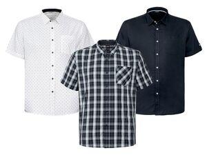 LIVERGY® Hemd Herren, Modern Fit, kurzärmlig, aus reiner Baumwolle
