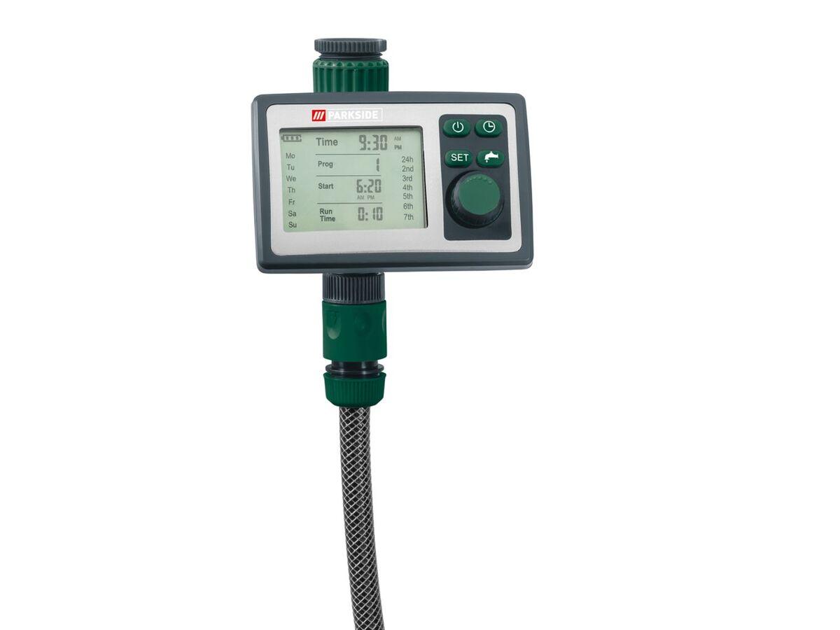 Bild 4 von PARKSIDE® Bewässerungscomputer, 6 Zeitpläne, für gängige Wasserhähne, inklusive Batterien