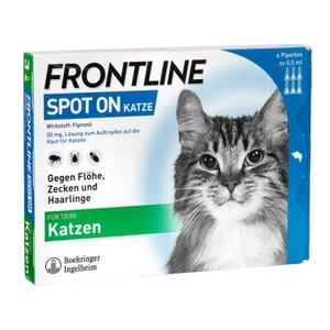 Frontline Spot-on gegen Zecken und Flöhe bei Katze 6 St