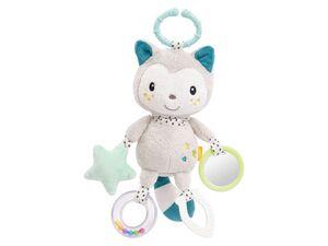 Fehn Activity-Katze mit Ring, Kuscheltier mit vielen Spielmöglichkeiten z.B. Soft-Beißer