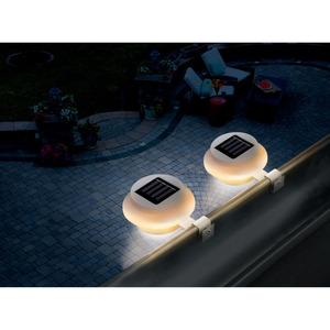 toom LED-Solar-Dachrinnenleuchte 2 Stück