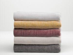 Face-2-Face Baumwoll-Spannbettlaken »Lino«, verschiedene Größen, Leinenoptik, für Topper