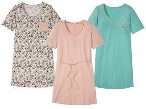 ESMARA® Big Shirt Damen, Seitenschlitze am Saum, aus reiner Baumwolle