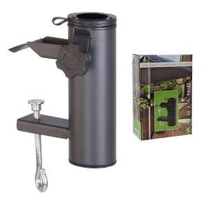 Balkon-Sonnenschirmhalter Anthrazit, aus Metall und Kunststoff, Gewicht: ca. 0,46kg